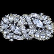 Pristine Vintage CORO Rhinestone Duette Brooch Pin Dress Clips