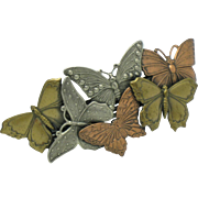 French Vintage MADE IN FRANCE Large Butterfly Hair Barrette