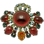 French MARYSE BLANCHARD Modele Paris France Couture Brooch Pin