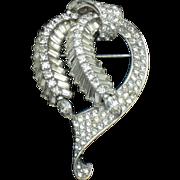 PENNINO Vintage Rhinestone Baguette Brooch and Pendant
