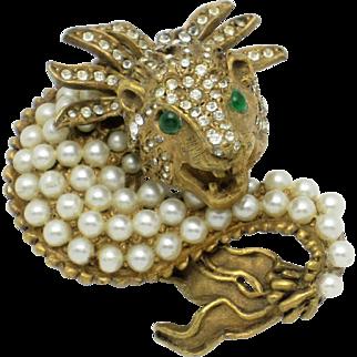 Vintage 1960s KJL for LAGUNA Fantasy Mythological Brooch Pin