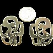 Large Frank Miraglia Silver Earrings