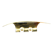 Danish Modernist Brooch in 14K with Cultured Pearls