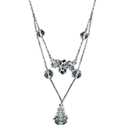 Art Deco Double Strand Rock Crystal Necklace