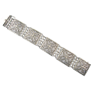 Theodor Fahrner Sterling and Marcasite Bracelet