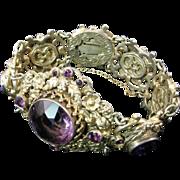 Romantic Austro-Hungarian Amethyst Bracelet
