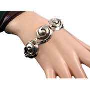 Napier Sterling Bracelet of Interlocking Spirals