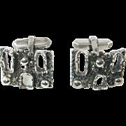 Freeform Modernist Cufflinks in 835 Silver