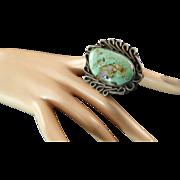 Huge Native American Boulder Turquoise Ring