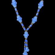 Art Deco Cornflower Blue Sautoir