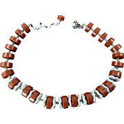 Unusual Miriam Haskell Necklace in Brown and Gray