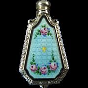 Enameled Chatelaine Perfume Bottle by G.K. Webster