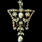 Edwardian Seed Pearl Lavalier / Pendant
