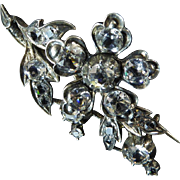 Antique French Flower Spray Paste Brooch