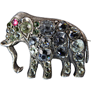 Victorian Paste Brooch of Elephant
