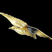Georges Pierre Art Nouveau Bird Brooch made of Horn