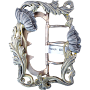 French Art Nouveau Gilt Silver Buckle with Poppies