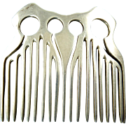 Modernist Sterling Silver Hair Comb