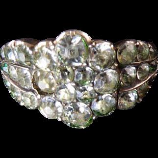 Georgian Paste Cluster Ring