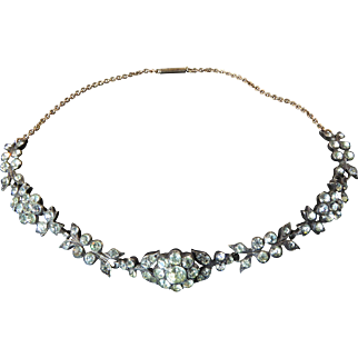 Antique Georgian Revival Paste and Silver Choker