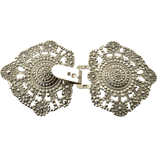 Antique French Silver Buckle from the Early 19th Century