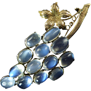 Moonstone Brooch of Bunch of Grapes