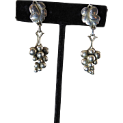 Georg Jensen Grape Dangle Earrings No. 40