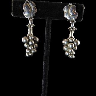 Georg Jensen Grape Dangle Earrings No. 40