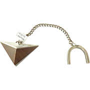 Esther Lewittes Modernist Sterling and Wood Key Chain