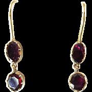 Antique Flat-cut Garnet Earrings