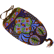 Exceptional Antique Beaded Purse with Wild Colors