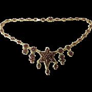 Victorian Garnet Star Fringe Necklace