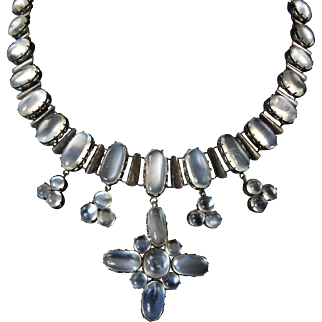 Magnificent Antique Arts and Crafts Moonstone Necklace