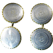 Platinum Topped Gold Art Deco Cufflinks