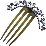 Victorian Cut Steel Hair Comb
