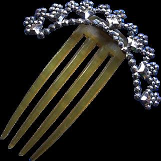 Victorian Cut Steel Hair Comb