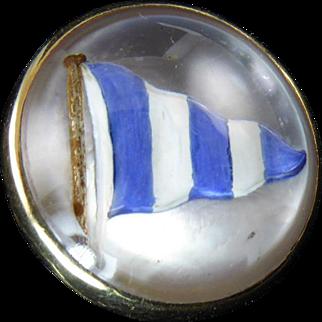 Nautical Esses Crystal Stick Pin Set in 14 Karat Gold