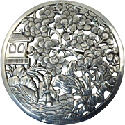 Huge Vintage Silver Brooch from French Indochina