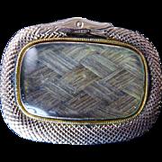 Late Georgian Oroboros Snake Pendant with Hair