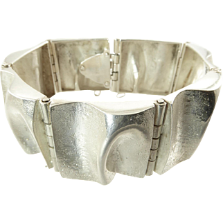 Matti Hyvarinen Sculptural Silver Bracelet