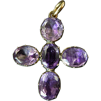 Georgian Amethyst Cross