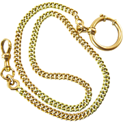 Antique Russian Watch Chain in 14 Karat Rose and Green Gold