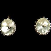 Georgian Paste Oval Solitaire Earrings