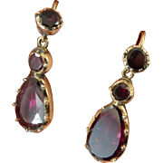 Georgian Garnet Drop Earrings