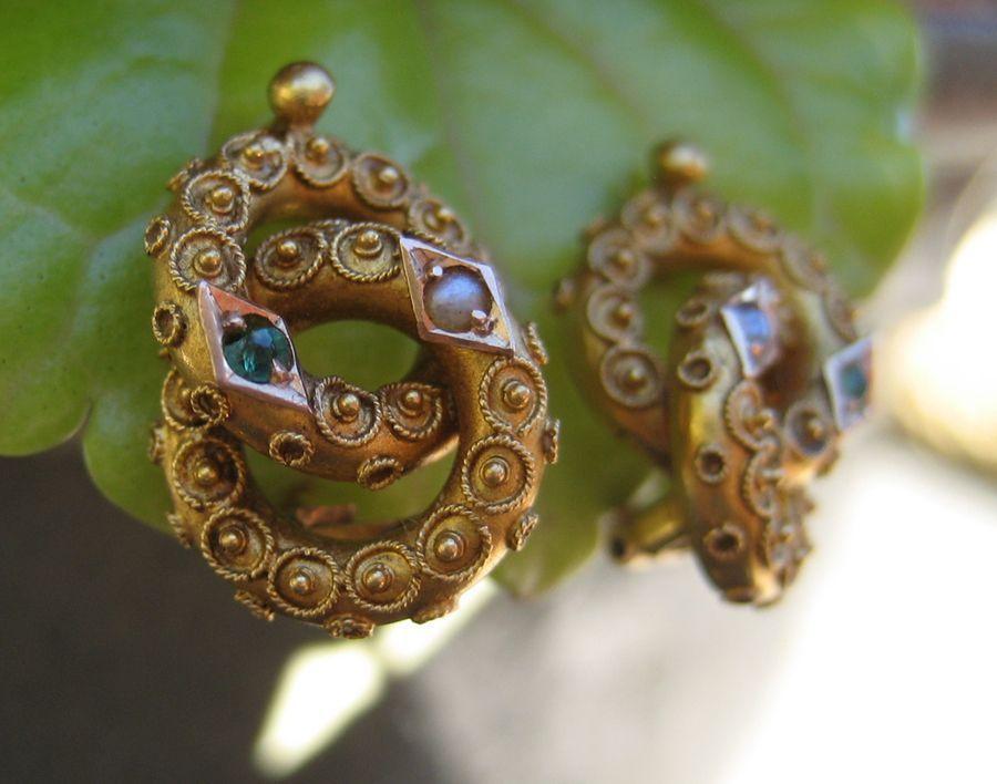 Victorian Etruscan Love Knot Earrings
