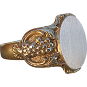 A Victorian Signet Ring to be Revered 12k