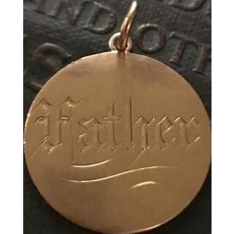 "Victorian ""Father"" Love Token Coin 22k"
