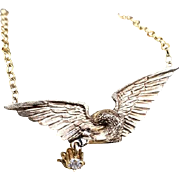 Victorian Winged Diamond Converted Necklace 14k