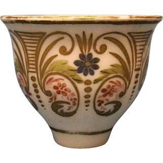 A Rare Schlaggenwald (Bohemia) Handleless Coffee Cup, c.1820