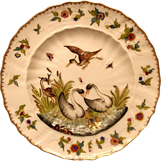 A Naples Cabinet Plate, c.1880